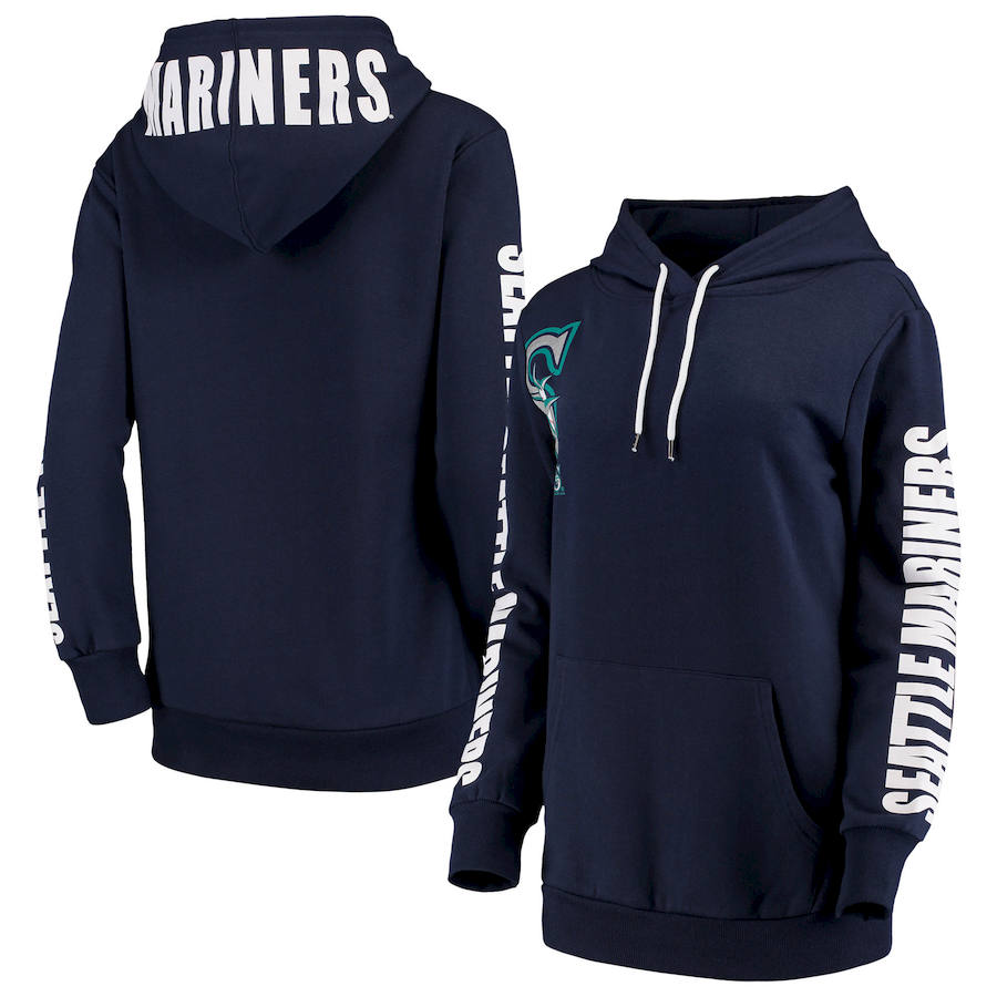 Seattle Mariners G III 4Her by Carl Banks Women's 12th Inning Pullover Hoodie Navy