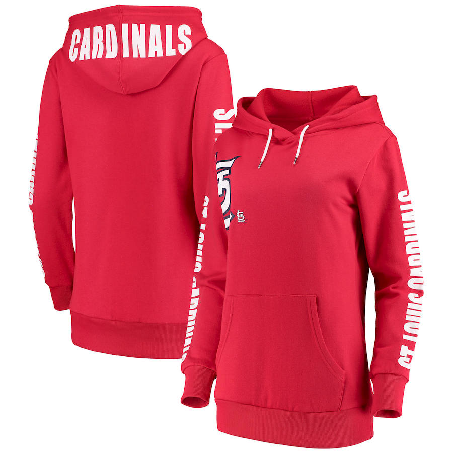 St. Louis Cardinals G III 4Her by Carl Banks Women's 12th Inning Pullover Hoodie Red