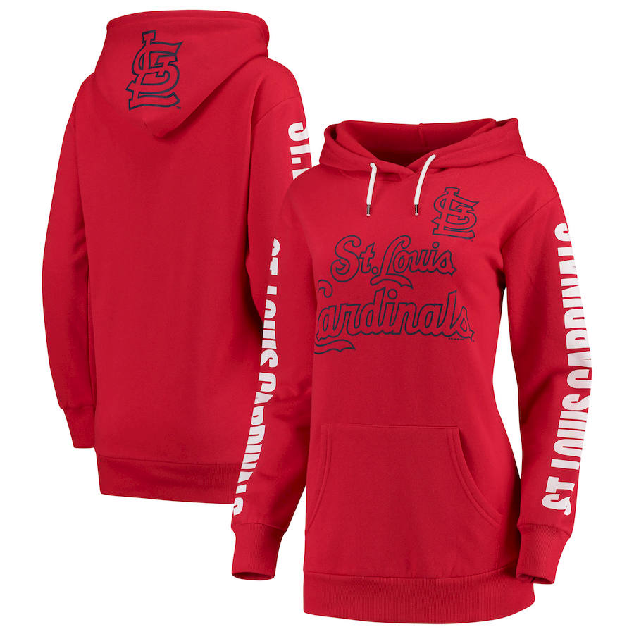 St. Louis Cardinals G III 4Her by Carl Banks Women's Extra Innings Pullover Hoodie Red