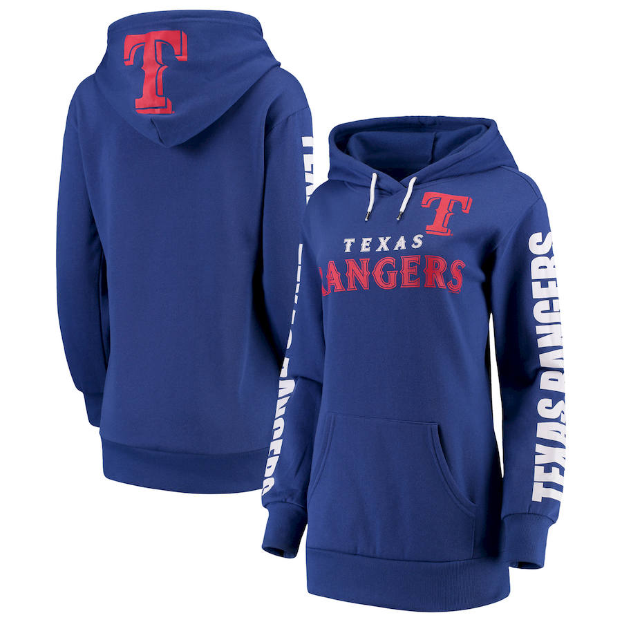 Texas Rangers G III 4Her by Carl Banks Women's Extra Innings Pullover Hoodie Royal