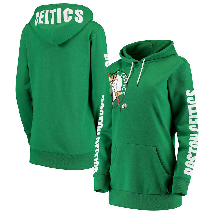 Boston Celtics G III 4Her by Carl Banks Women's Overtime Pullover Hoodie Kelly Green