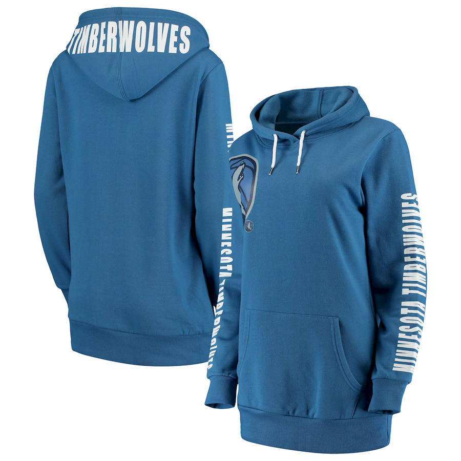 Minnesota Timberwolves G III 4Her by Carl Banks Women's Overtime Pullover Hoodie Blue