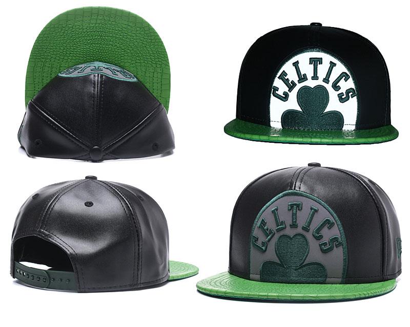 Celtics Team Logo Black Adjustable Hat GS