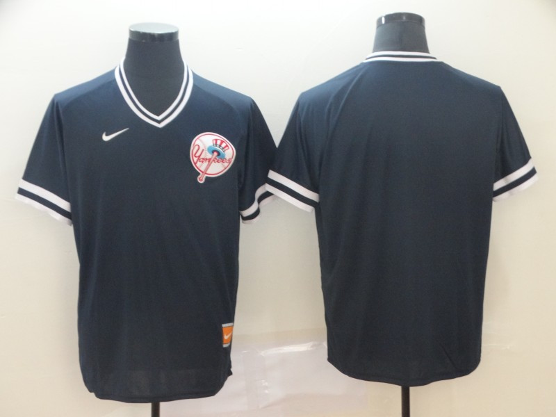 Yankees Blank Black Throwback Jersey