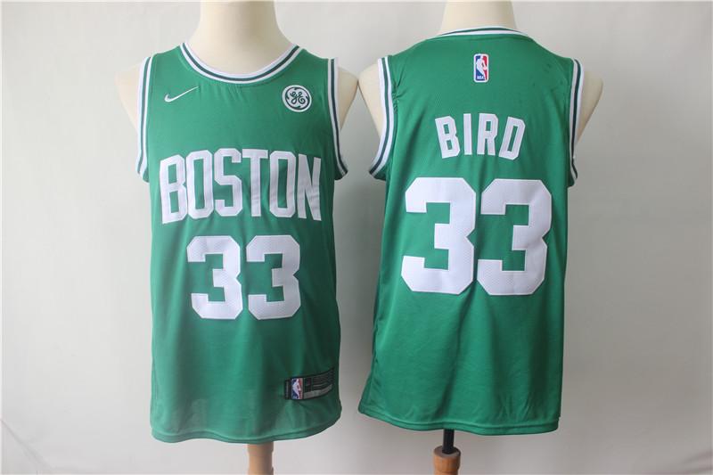Celtics 33 Larry Bird Green Nike Swingman Jersey