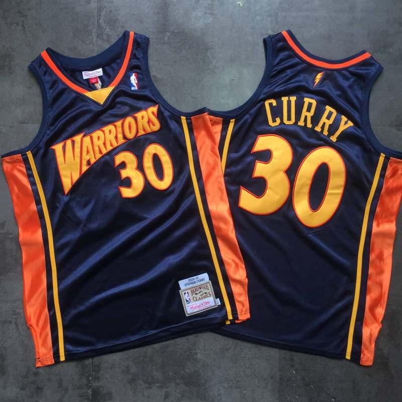 Warriors 30 Stephen Curry Navy 2009-10 Hardwood Classics Jersey