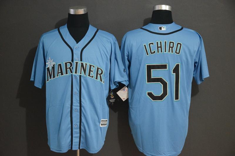 Mariners 51 Ichiro Suzuki Blue Cool Base Jersey