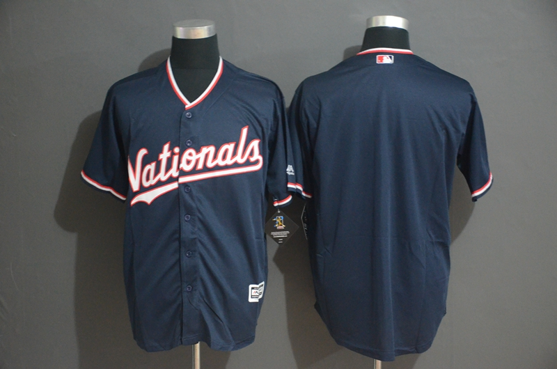 Nationals Blank Navy Cool Base Jersey