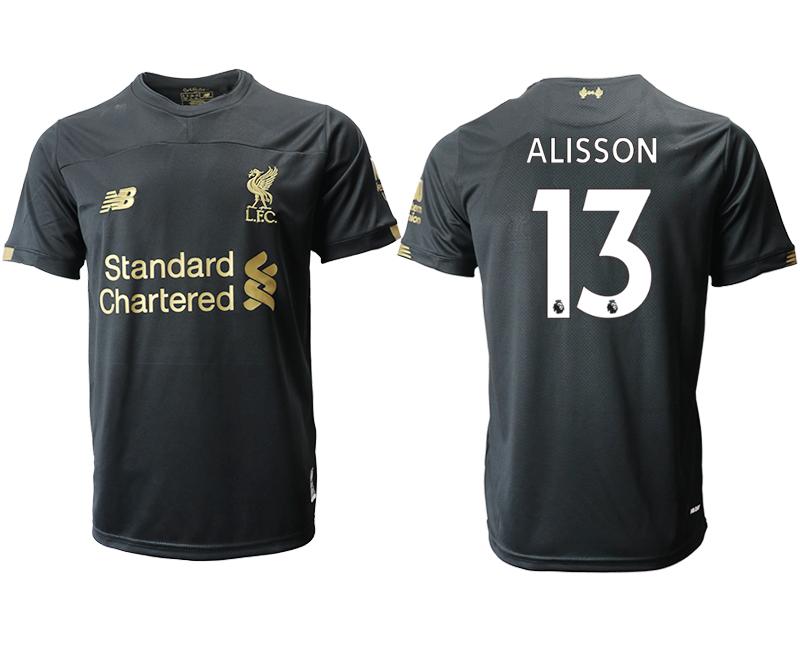 2019-20 Liverpool 13 ALISSON Black Goalkeeper Thailand Soccer Jersey