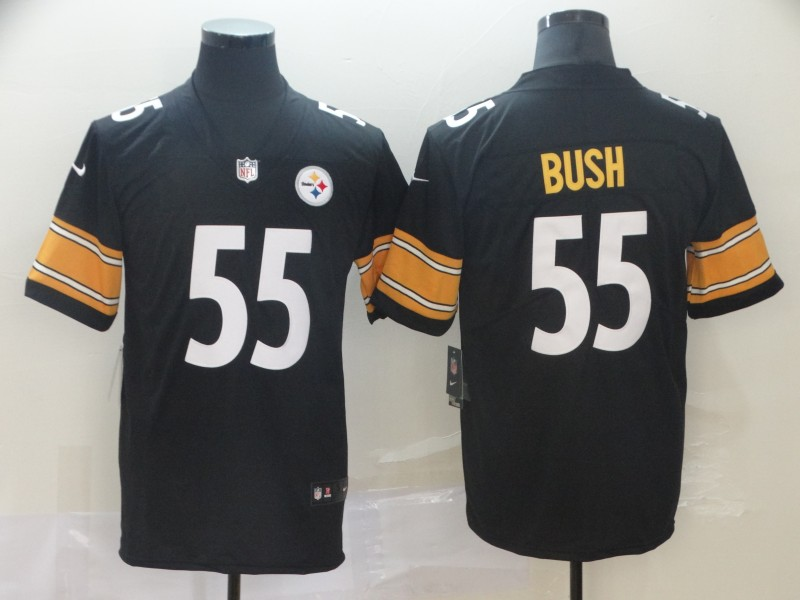 Nike Steelers 55 Devin Bush Black 2019 NFL Draft First Round Pick Vapor Untouchable Limited Jersey