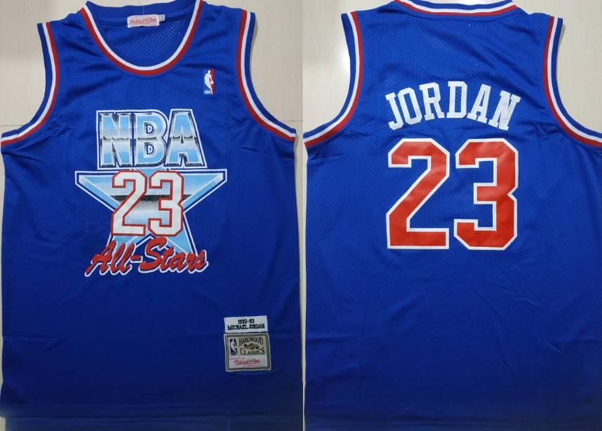 Bulls 23 Michael Jordan Blue 1992-1993 All Star Hardwood Classics Jersey