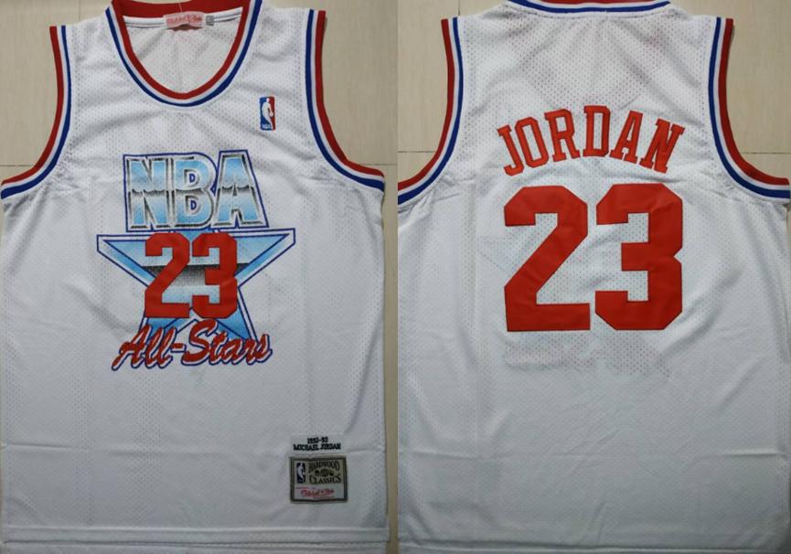 Bulls 23 Michael Jordan White 1992-1993 All Star Hardwood Classics Jersey