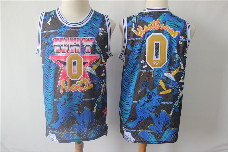 Jordan Why Not 0 Russell Westbrook Blue All Star Basketball Jersey