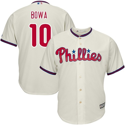 Phillies 10 Larry Bowa Cream Cool Base Jersey