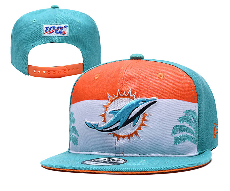 Dolphins Team Logo Aque 2019 Draft Adjustable Hat YD