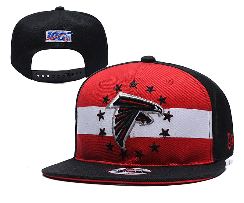 Falcons Team Logo Black Red 2019 Draft Adjustable Hat YD