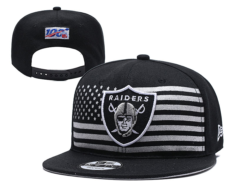 Raiders Team Logo Black 2019 Draft Adjustable Hat YD