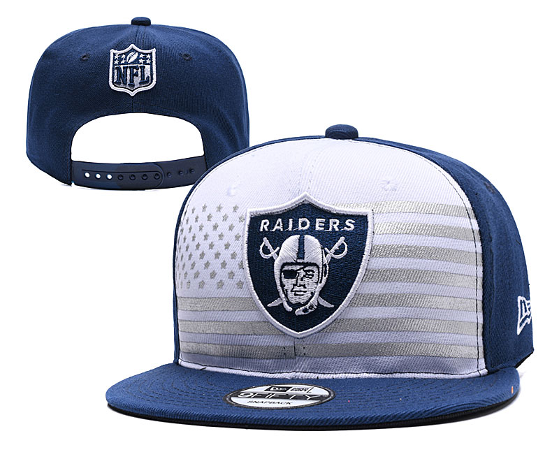 Raiders Team Logo Navy White 2019 Draft Adjustable Hat YD