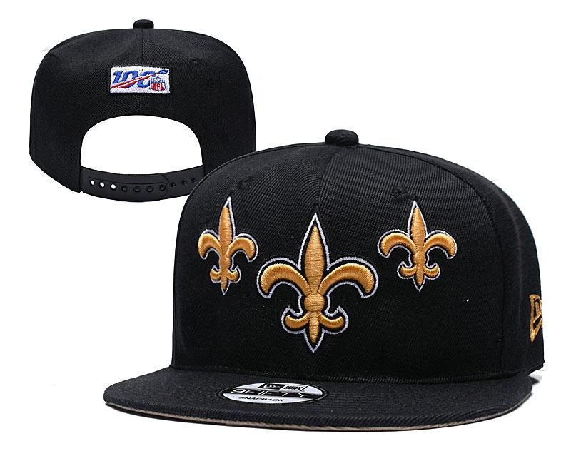 Saints Team Logo Black 2019 Draft Adjustable Hat YD