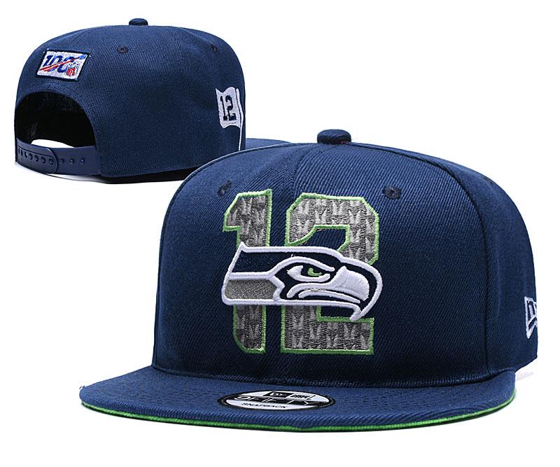 Seahawks Team Logo Navy 2019 Draft Adjustable Hat YD