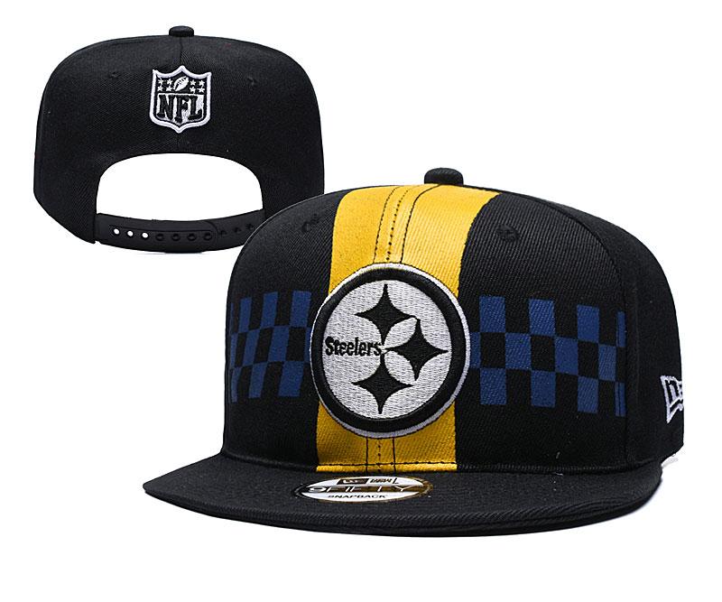 Steelers Fresh Logo Black 2019 Draft Adjustable Hat YD