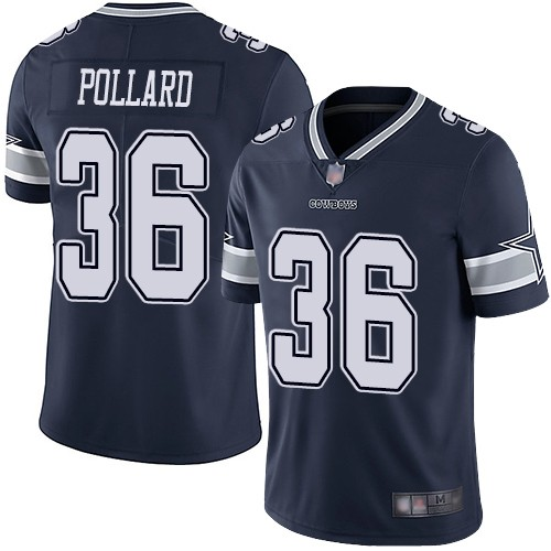 Nike Cowboys 36 Tony Pollard Navy 2019 NFL Draft First Round Pick Vapor Untouchable Limited Jersey