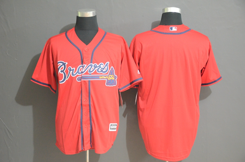 Braves Blank Red Cool Base Jersey