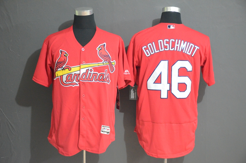 Cardinals 46 Paul Goldschmidt Red Flexbase Jersey