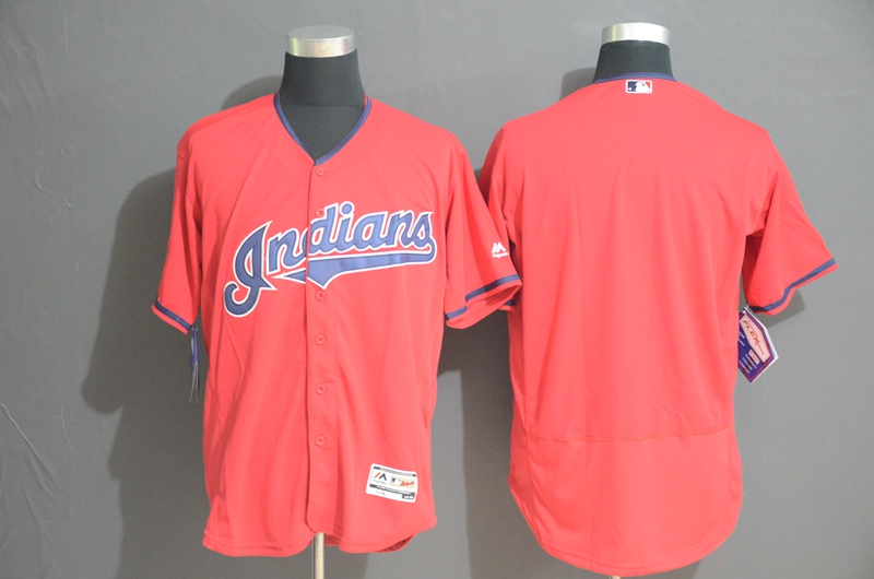 Indians Blank Red Flexbase Jersey