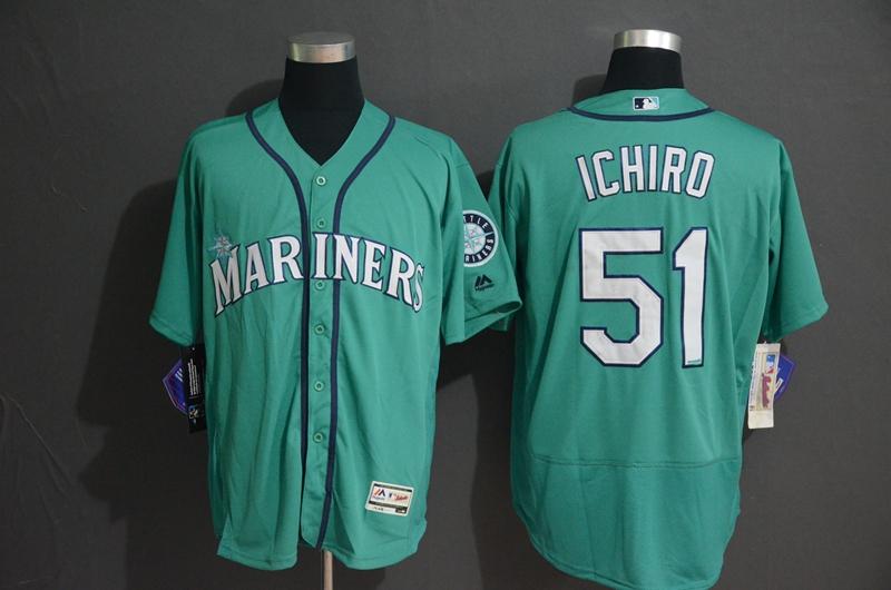 Mariners 51 Ichiro Suzuki Green Flexbase Jersey