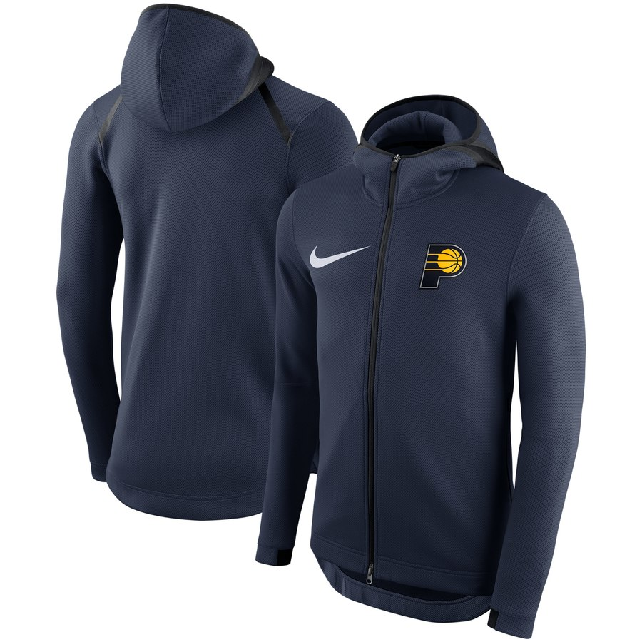 Indiana Pacers Nike Showtime Therma Flex Performance Full Zip Hoodie Navy