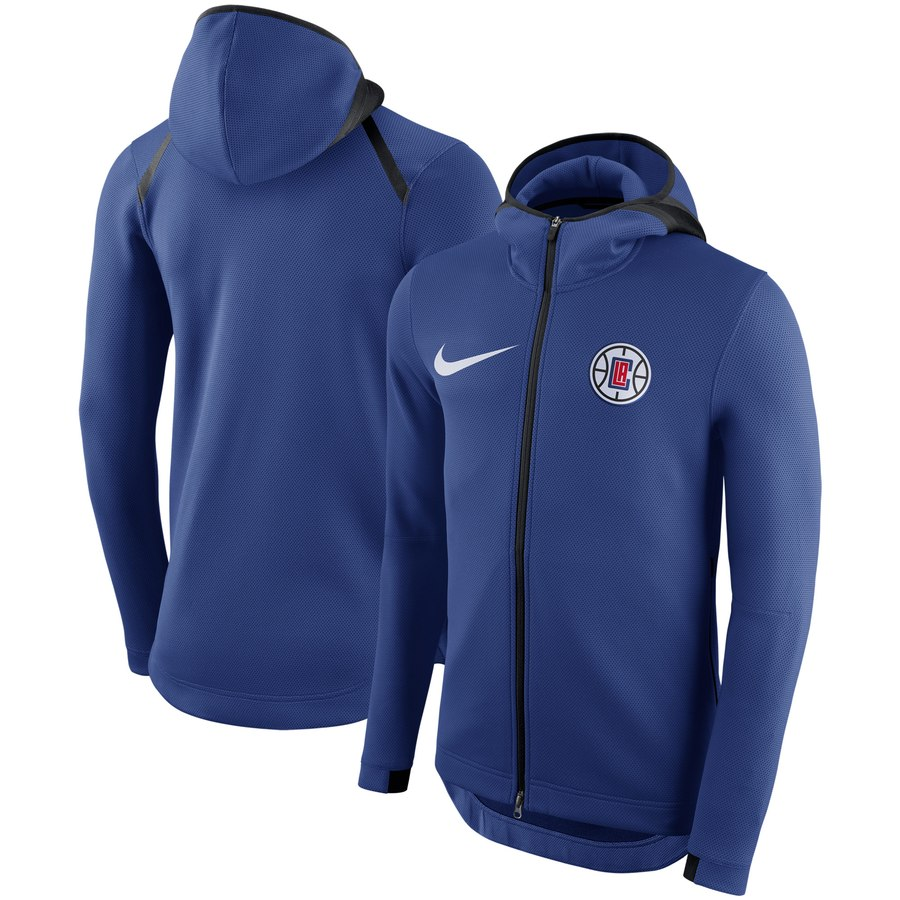 LA Clippers Nike Showtime Therma Flex Performance Full Zip Hoodie Royal