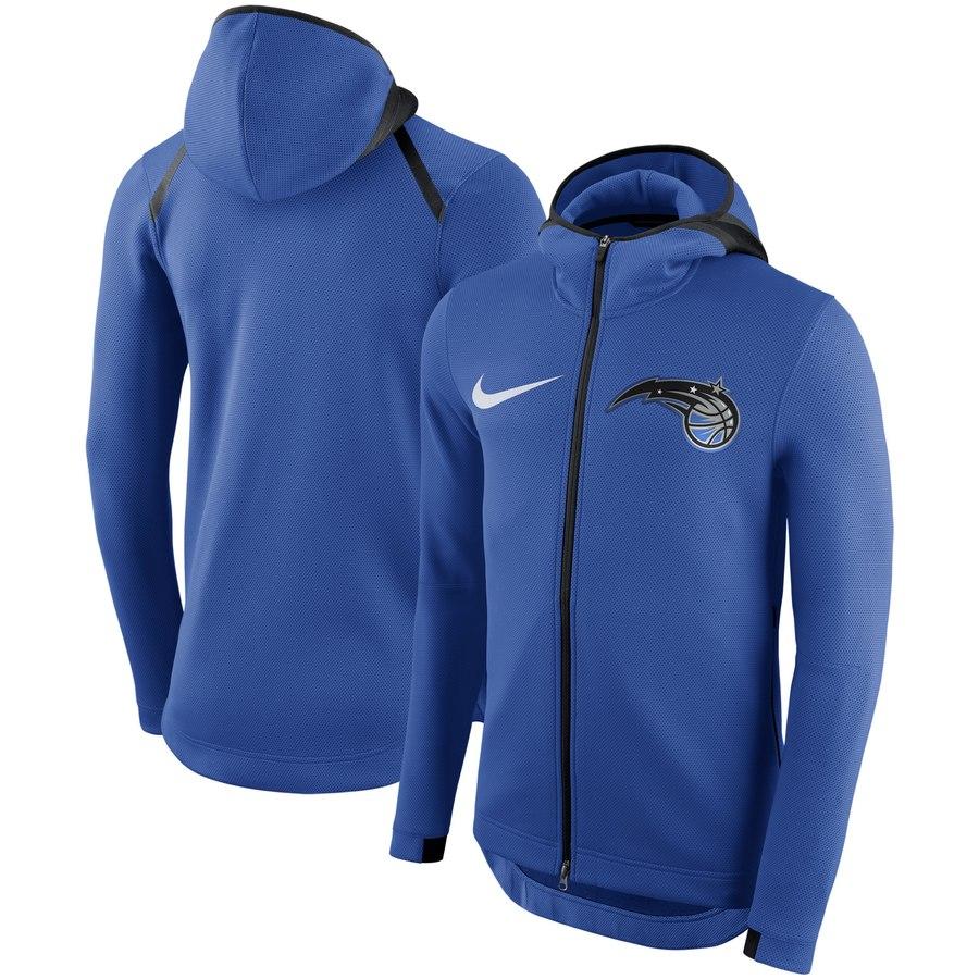Orlando Magic Nike Showtime Therma Flex Performance Full Zip Hoodie Blue.