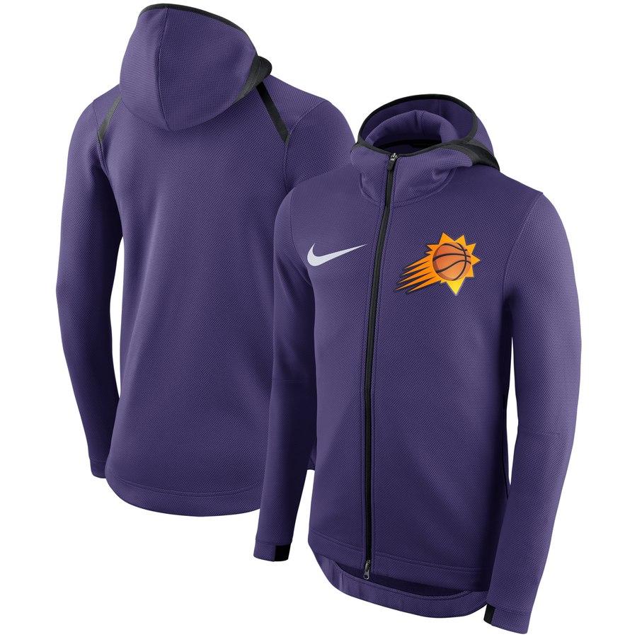 Phoenix Suns Nike Showtime Therma Flex Performance Full Zip Hoodie Purple