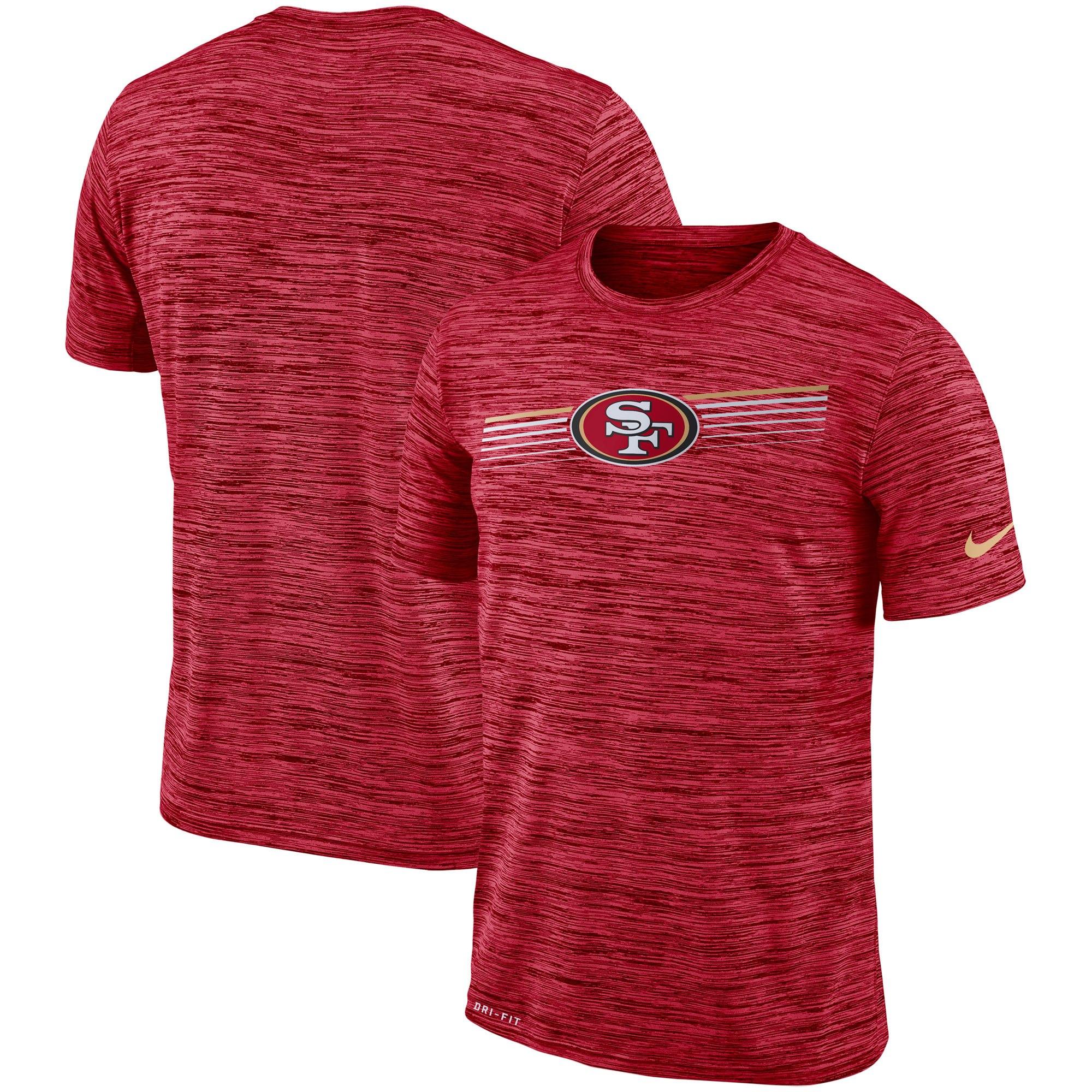 San Francisco 49ers Nike Sideline Velocity Performance T-Shirt Heathered Scarlet