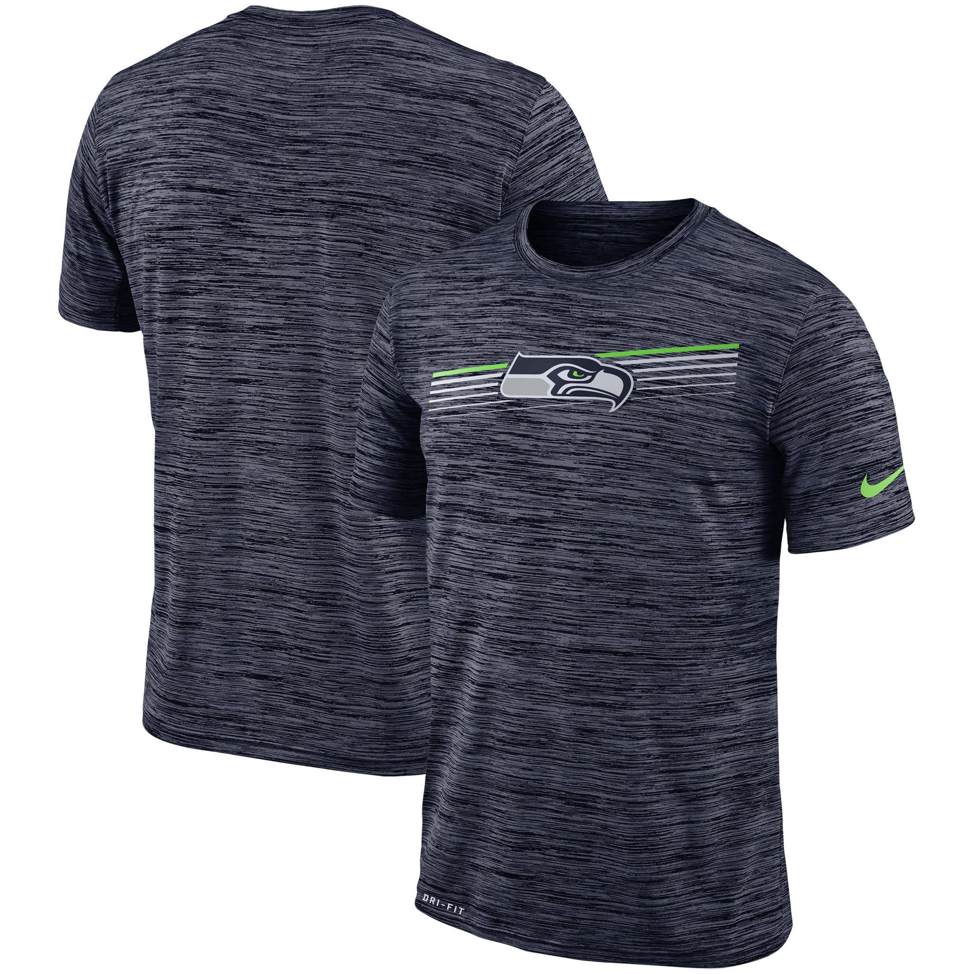Seattle Seahawks Nike Sideline Velocity Performance T-Shirt Heathered College Navy