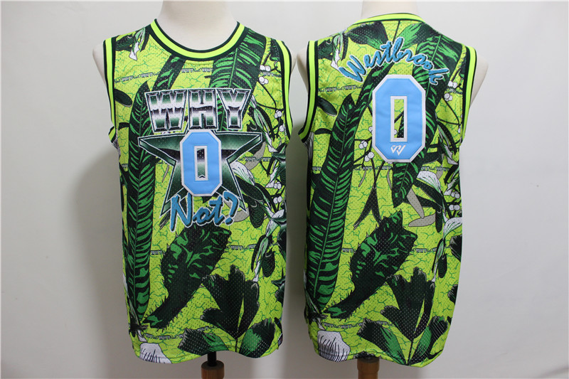 Jordan Why Not 0 Russell Westbrook Green All-Star Basketball Jersey