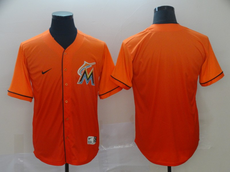 Marlins Blank Orange Drift Fashion Jersey