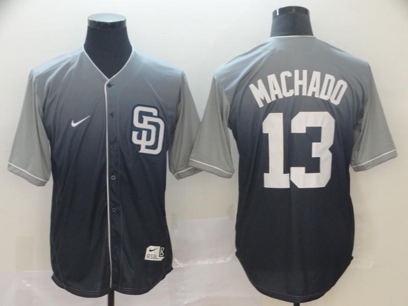 Padres 13 Manny Machado Gray Drift Fashion Jersey