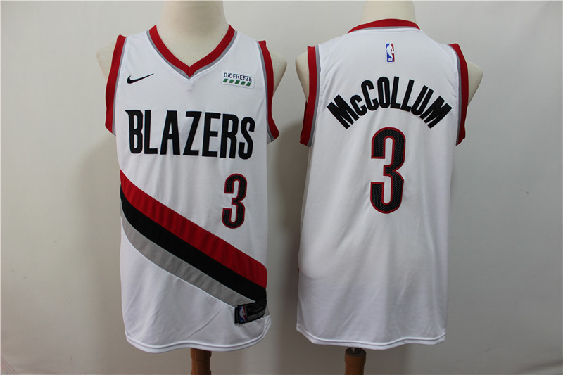 Blazers 3 C.J. McCollum White City Edition Nike Swingman Jersey