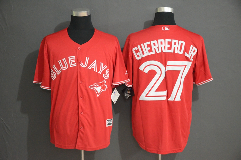 Blue Jays 27 Vladimir Guerrero Jr. Red Cool Base Jersey