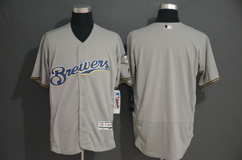 Brewers Blank Gray Flexbase Jersey