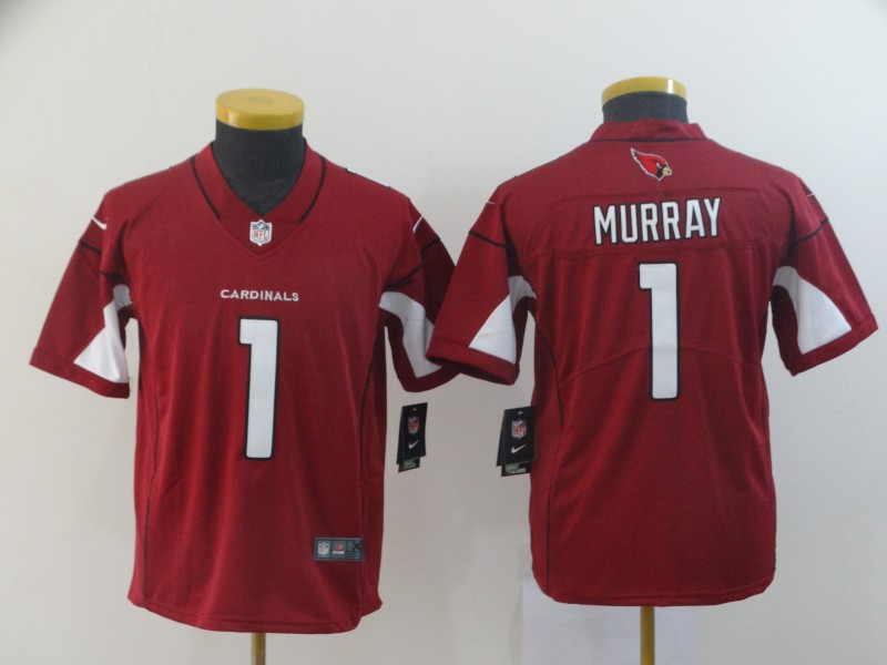 Nike Cardinals 1 Kyler Murray Red Youth 2019 NFL Draft First Round Pick Vapor Untouchable Limited Jersey