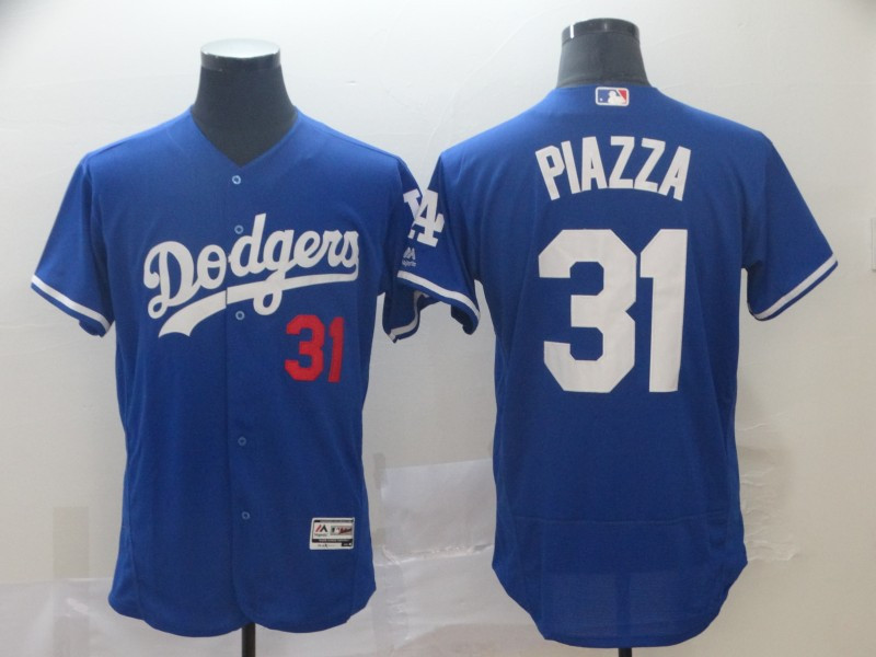Dodgers 31 Mike Piazza Blue Flexbase Jersey