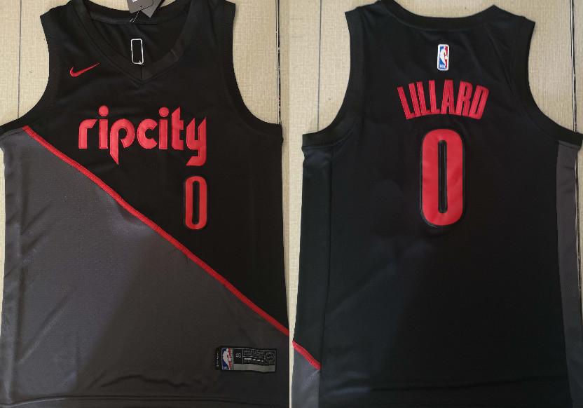 Blazers 0 Damian Lillard Black 2018-19 City Edition Nike Swingman Jersey