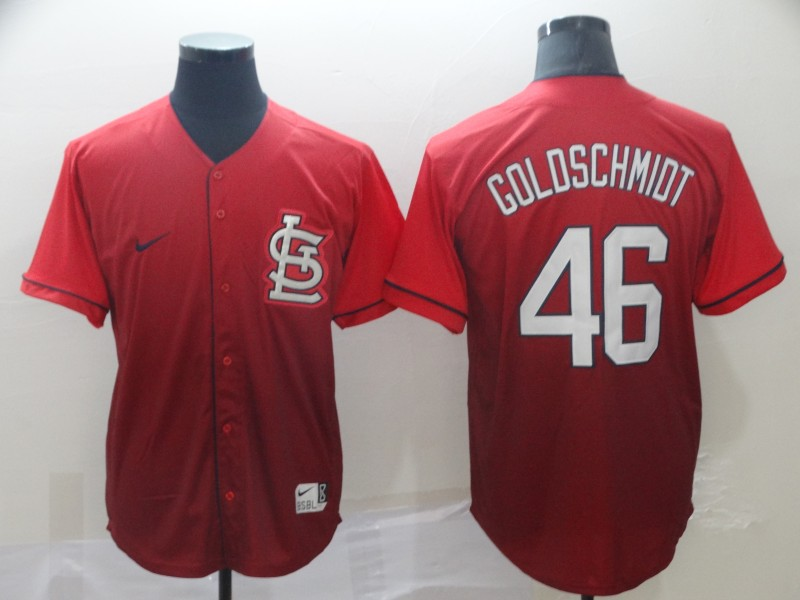 Cardinals 46 Paul Goldschmidt Red Drift Fashion Jersey