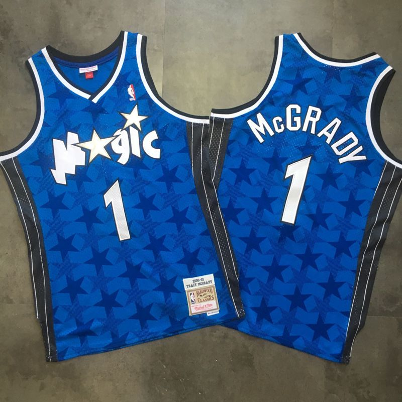 Magic 1 Tracy McGrady Blue 2000-01 Hardwood Classics Swingman Jersey