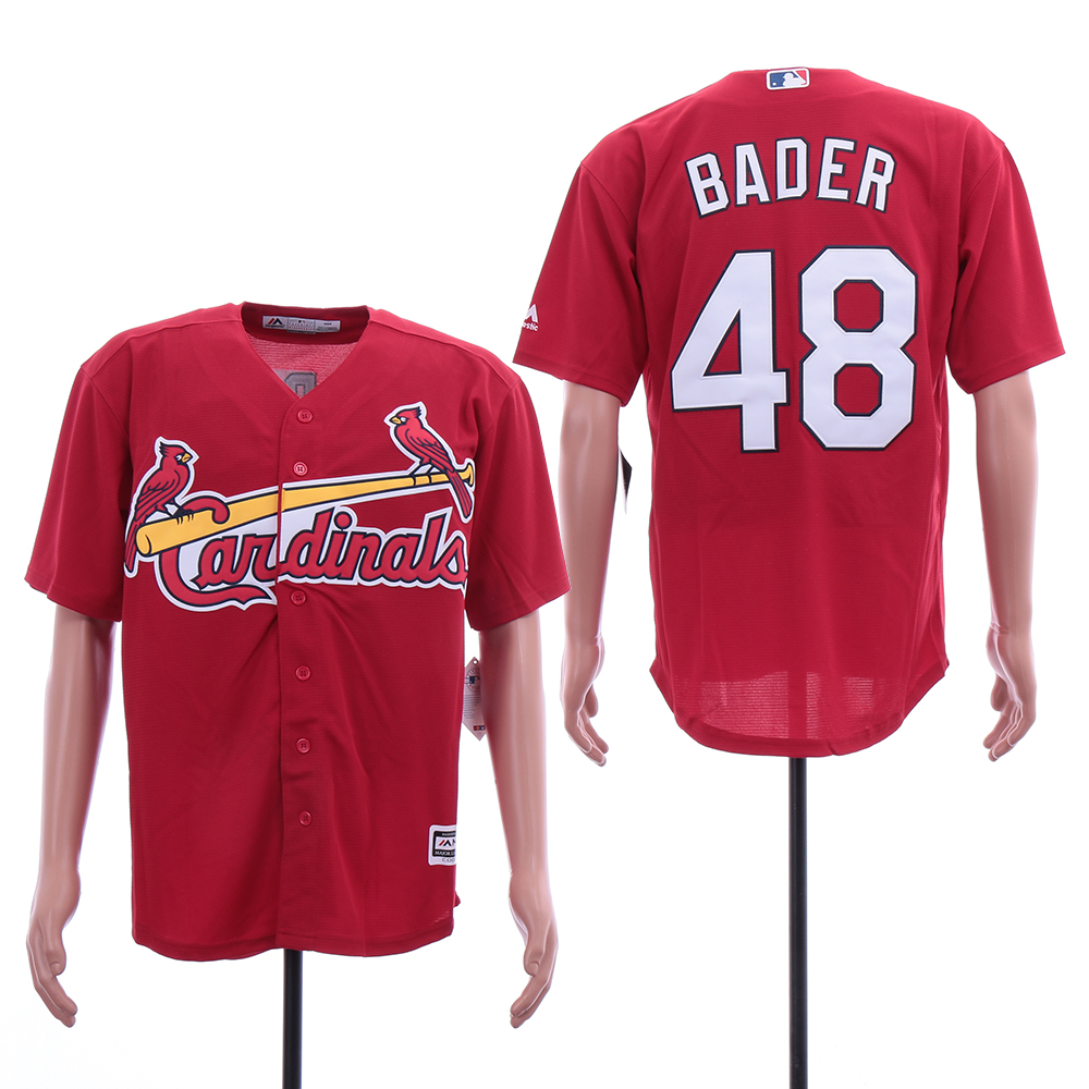Cardinals 48 Harrison Bader Red Cool Base Jersey