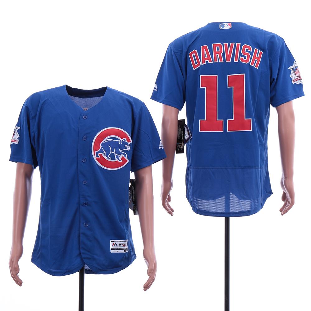Cubs 11 Yu Darvish Blue Flexbase Jersey