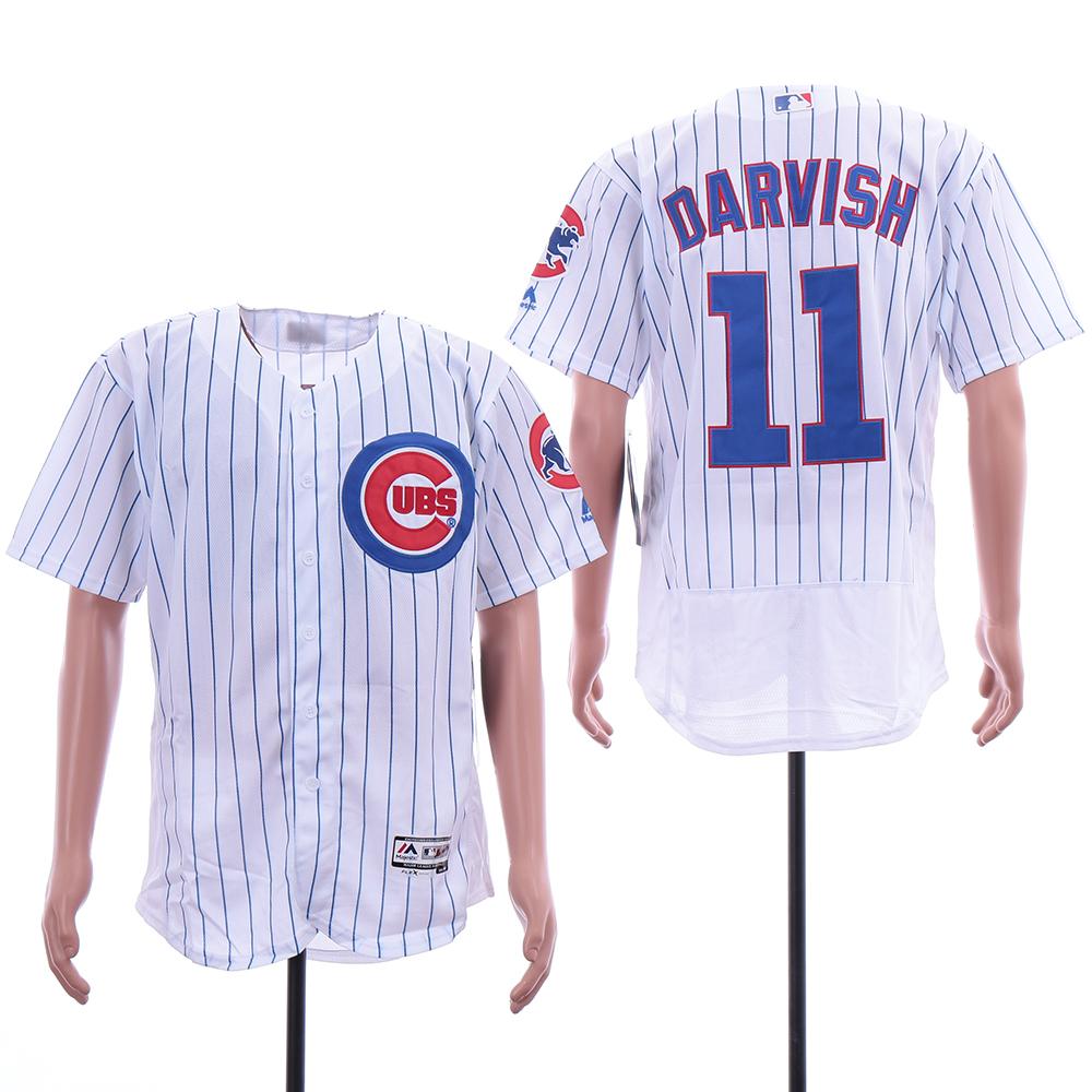 Cubs 11 Yu Darvish White Flexbase Jersey